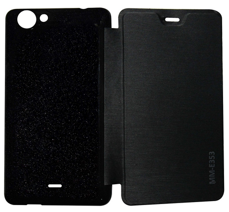 pretty nice 2be27 1429f Flip Cover For Micromax Canvas Mega E353 Black