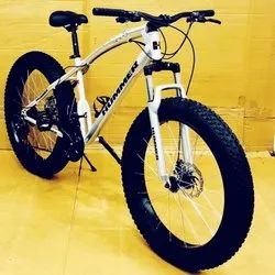 Hummer Silver Fat Tyre Cycle