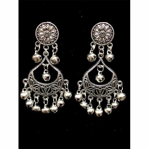 D9 Creation Oxidized Metal Oxidized Earrings, Packaging Type: Box