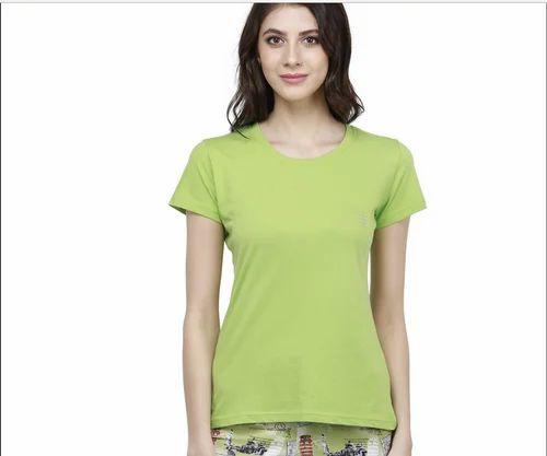 168e1ab530d Rws7s2002 Bongio Women Plain Round- Neck T-shirt