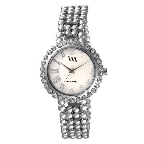 Ladies Metallic Grey Chain Watch 405287ae762b