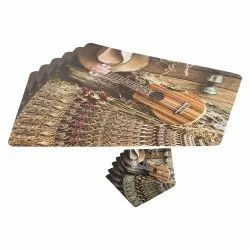 Modern Table Mats with Coasters