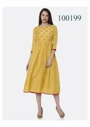 Attractive Party Wear Cotton Kurti By Parvati Fabric