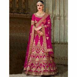 Beautiful Designer Wear Purple Silk Lehenga