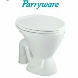 White Parryware Western Toilet