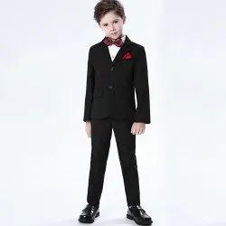 Wedding Wear Kids Party Wear Black Suit