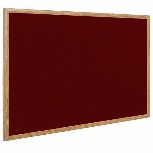B.R. Hastkala Udyog Maroon Wooden Frame Notice Board, Frame Material ...