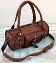 Vintage Leather Front Pocket Travel Bag