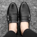 Party Wear Black Loafer Shoes, Size: 6 To 10