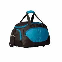 Polyester Blue and Black 1000 Denim Luggage Bag