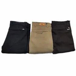 Regular Fit Mens Cotton Plain Formal Trouser, Machine wash, Size: 28-34