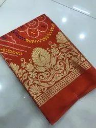 Kota Silk Bhandez Gold Print Saree