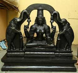 Divine Black Stone Sri Gajalakshmi 2 1/2 Feet