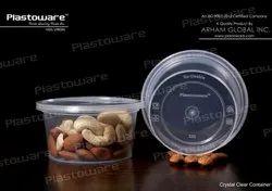 Plastoware圆形250毫升食品塑料容器