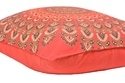 Red Peacock Badmeri  Cushion Cover