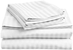 Stripped Fitted Bedsheet Set for Double Bed