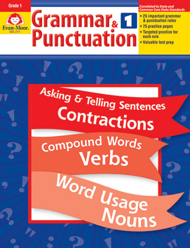 Grammar And Punctuation Grade 1 Book