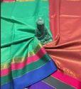 Maheshwari Silk Sarees With Brocade Blouse  SMM108