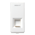 Press Fit Modular 2 Line Telephone Socket Jack with Shutter