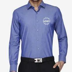 Plain Cotton/Linen Formal Wear Mens Corporate Shirt, Size: S