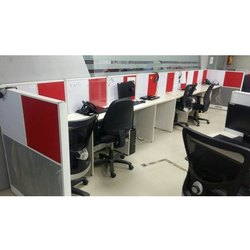 Gajanand Furniture Wooden Modular Office Workstation, Seating Capacity: 6-8