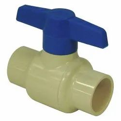 Aquachem High Pressure CPVC Two Pc Ball Valve, For Industrial, Packaging Type: Box