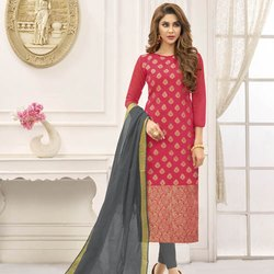Jacquard Zari Woven Salwar Suit