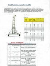 Aluminium Square Tower Ladder