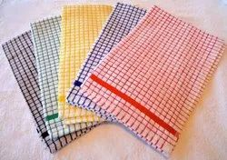 6 Assorted Colors Mono Checks Kitchen Towels