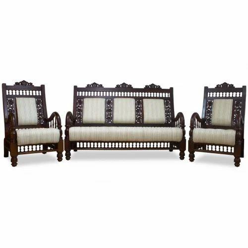 Designer Wooden Sofa Set, Lakdi Sofa Set, Lakdi The Furniture Co Sofa Set, वुडन सोफा सेट - Bharat Furniture, Jodhpur | ID: 16004750633