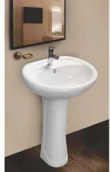 Mozio Italian Ceramic Cathy Pedestal Basin, for Home, Model Name/Number: C3520