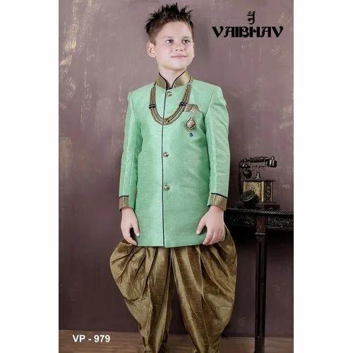 a1a476410821 Vaibhav Cotton Boys Classy Indo Western Suit