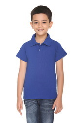 kids Cotton Polo/Collar T Shirt