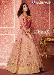Custumized-Silk Aashirwad Creation Lihaaz Series Exclusive Bridal Dresses