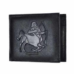 Sagittarius Zodiac Sign Mens Leather Wallet