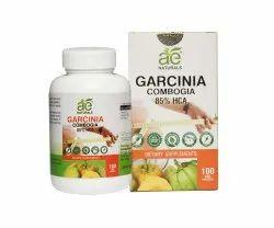 AE Naturals Pure Organic Garcinia Capsules 85% HCA 800Mg 100 Veg Capsules