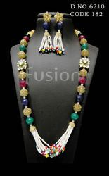 Multicolored Beaded Necklace Set