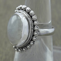 Rainbow Moonstone 925 Sterling Silver Jewelry Ring