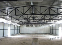 MS Square Pipe Shed and Fabricated Shed