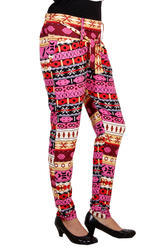 Missimo Collection 28 to 32 Cotton Women Printed Polo Pant