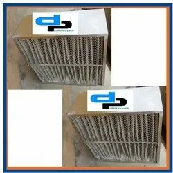 SS Sheet Box Type Fiber Glass Filter