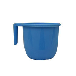Blue Plain Plastic Bath Mug, For Bathroom