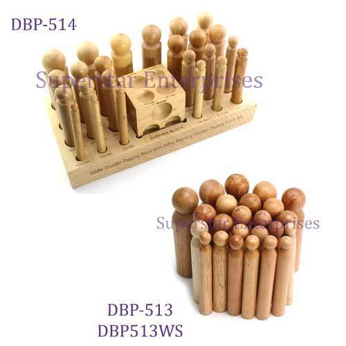 24PC WOODEN DAPPING PUNCH SET