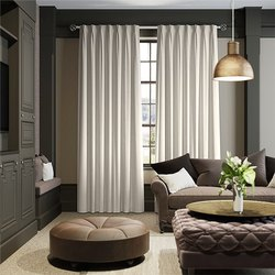Polyester Plain Window Curtains