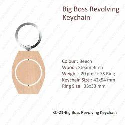 Wooden Keychain-KC-21-Big Boss Revolving Keychain