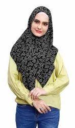 Chiffon Square Printed Scarf Hijab For Women