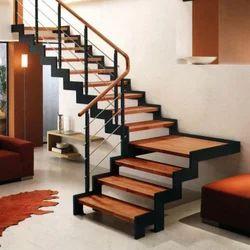 Wooden Stair, लकड़ी की सीढ़ी   Siddhi Vinayak SS Steel, Gurgaon | ID:  15116321197