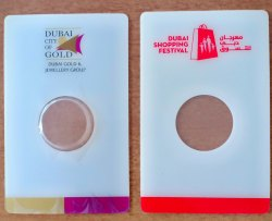Gold Coin Packing Card