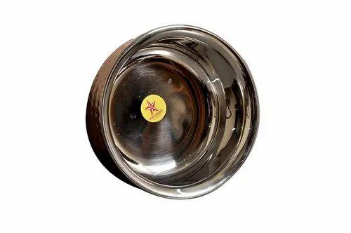 Nutristar Biryani Handi Copper And Stainless Steel Diameter 15 Cm