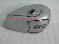 New Norton Es2 Silver Painted Petrol Tank
